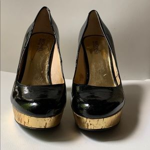 Michael Kors Size 7.5 Black Patent Leather Heels.
